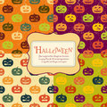 Halloween backgrounds set with tag. Four colors. Royalty Free Stock Photography