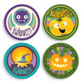 Halloween badges Royalty Free Stock Photography
