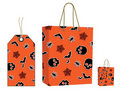 Halloween bag and tag set Royalty Free Stock Image