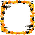 Halloween balloon frame Royalty Free Stock Photo