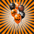 Halloween Balloons Stock Photography