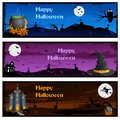 Halloween banner easy to edit vector illustration of Royalty Free Stock Photo
