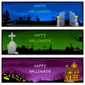 Halloween banner easy to edit vector illustration of Royalty Free Stock Images