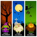 Halloween banner easy to edit vector illustration of Stock Photo