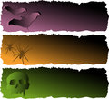 Halloween Banner Set Stock Image