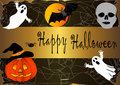 Halloween banner. vector. Royalty Free Stock Photos
