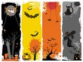 Halloween banners. Royalty Free Stock Photo