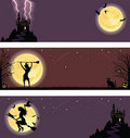 Halloween banners. Stock Images