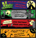 Halloween Banners in Different Colors Royalty Free Stock Photography