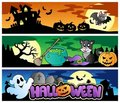 Halloween banners set 4 Royalty Free Stock Image