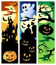 Halloween banners set 5 Stock Photo
