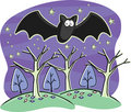 Halloween Bat Stock Photo