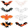 Halloween bats Stock Images