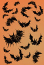 Halloween Bats Stock Photo