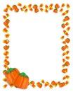 Halloween Border Candy Corn Royalty Free Stock Photo