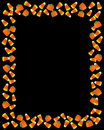 Halloween Border Candy Corn  Stock Image