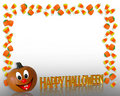 Halloween Border Candy Corn  Royalty Free Stock Photography