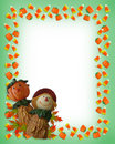 Halloween Border Pumpkin Scare...
