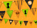 Halloween bunting Stock Photography
