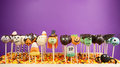 Halloween cake pops Royalty Free Stock Photo
