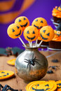 Halloween cake pops with a theme Royalty Free Stock Images