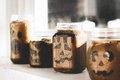 Halloween Candle Holders Royalty Free Stock Photo