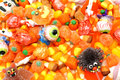 Halloween candy background full of an assortment of Royalty Free Stock Image