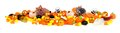 Halloween candy border Royalty Free Stock Photo