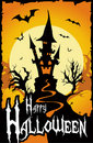 Halloween Card Background Stock Image