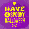 Halloween card design typographic greeting Royalty Free Stock Image