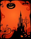 Halloween card illustration of a Royalty Free Stock Image