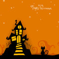 Halloween card illustration of a scary design Royalty Free Stock Photo