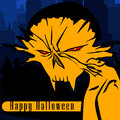 Halloween card with a monster comic book style illustration Stock Image