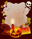 Halloween card with place for text Stock Photo