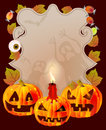 Halloween card with place for text Stock Image