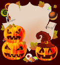 Halloween card with place for text Royalty Free Stock Photos