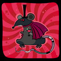 Halloween card with vampire rat. Royalty Free Stock Photos