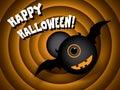 Halloween card vintage movie ending screen eps vector Royalty Free Stock Photos