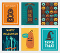 Halloween Cards set. Royalty Free Stock Photo