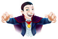 Halloween cartoon dracula an illustration of a cute count vampire character for Stock Photos