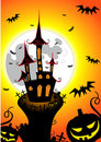 Halloween castle Stock Photos