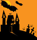 Halloween castle Stock Image