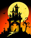 Halloween castle. Royalty Free Stock Photo