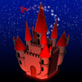Halloween Castle Background Stock Photo