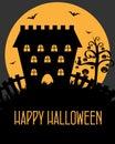 Halloween castle card