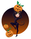 Halloween cat girl Royalty Free Stock Image