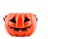 Halloween with ceramic pumpkin on white background Royalty Free Stock Image