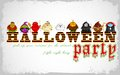 Halloween character for costume party easy to edit vector illustration of design Royalty Free Stock Image