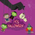 Halloween character easy to edit vector illustration of Stock Image
