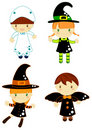 Halloween characters Stock Photography